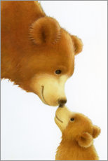 Aluminium print  Big Bear, Little Bear - Lisa Alderson
