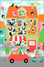 Foam board print  Jungle house - Liza Lewis