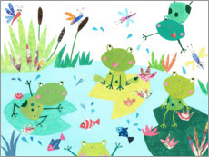 Wood print  Frog pond - Pope Twins