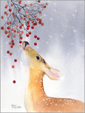 Premium poster  Deer in winter - Rachel McNaughton
