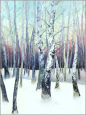 Wall sticker  Birches in the winter - Sarah Stoker