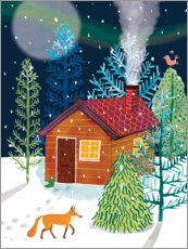 Foam board print  Winter lodge - Sarah Hoyle