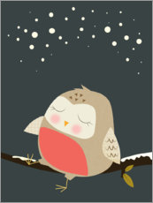 Canvas print  Sleeping owl - Nicola Evans