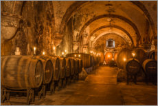 Foam board print  Historic wine cellar in the Cistercian monastery - Christian Müringer
