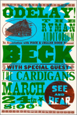 Acrylic print  Beck With Special Guests, The Cardigans 1990s - Entertainment Collection