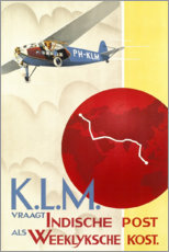 Premium poster KLM Royal Dutch Airlines (Dutch)