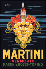 Wood print  Martini advertising poster - Advertising Collection