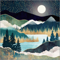 Wall sticker  Star Lake Landscape - SpaceFrog Designs