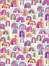 Foam board print  Colourful Watercolour Rainbows - Ninola Design