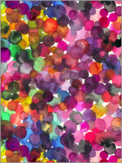 Premium poster Colorful watercolor dots