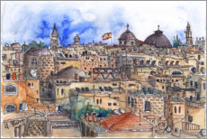 Wall sticker  Roofs of Jerusalem - Hartmut Buse
