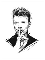 Foam board print  David Bowie - Tompico