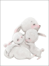 Gallery print  Cuddly bunnies - Kidz Collection