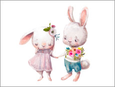 Gallery print  Loved bunnies - Kidz Collection
