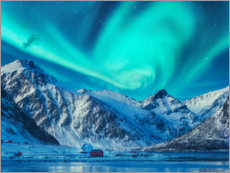 Canvas print  Northern Lights over the Lofoten