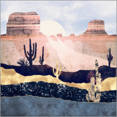 Foam board print  Autumn Desert Landscape - SpaceFrog Designs