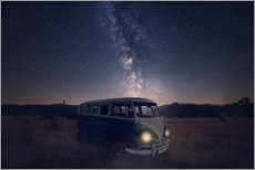Wall sticker  Milky way and an old bus on a field - Oliver Henze