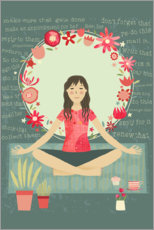 Canvas print  Yoga Meditation and Mindfulness - Nic Squirrell