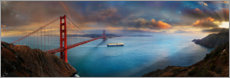 Canvas print  Golden Gate Bridge, San Francisco - Michael Rucker