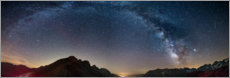 Aluminium print  The Milky Way over the French Alps - Fabio Lamanna