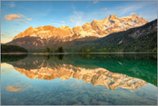 Premium poster Alpenglow at the Eibsee