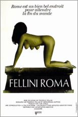 Canvas print  Fellini's Roma (French) - Entertainment Collection