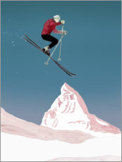 Foam board print  Mountain Love   Skier - Mantika Studio