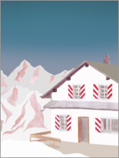 Premium poster Mountain hut
