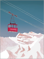 Aluminium print  Cable car - Mantika Studio