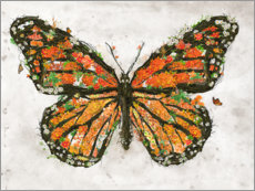 Foam board print  Monarch Butterfly - Barrett Biggers