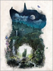 Acrylic print  The Cat Realm - Barrett Biggers