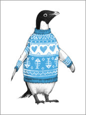 Premium poster  Penguin in a sweater - Nikita Korenkov