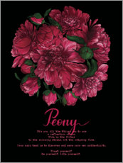 Canvas print  Like yourself - peony - Sonia Nezvetaeva