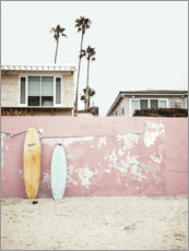 Premium poster Surfboards at the Beach House