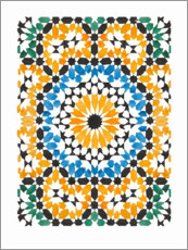 Foam board print  Blooming mosaic - Mantika Studio