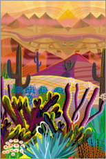 Gallery print  High on a Desert Mountain Top - Charles Harker