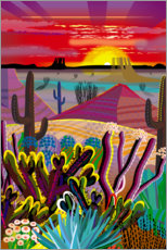 Acrylic print  The Desert in Your Mind - Charles Harker
