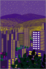 Premium poster  Mexico City Night - Charles Harker