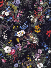 Aluminium print  Floral pattern I - William Kilburn
