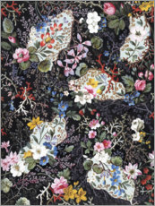 Wood print  Floral pattern VI - William Kilburn