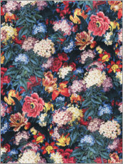 Wood print  Floral pattern VII - William Kilburn