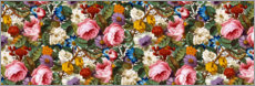 Canvas print  Floral pattern III, panorama - William Kilburn
