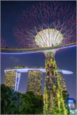 Premium poster  Supertree Singapore II - Ulrich Beinert