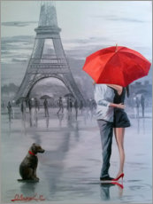 Canvas print  Paris for two - Olha Darchuk