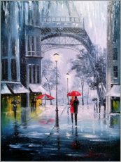 Premium poster  The first snow in Paris - Olha Darchuk
