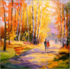 Wall sticker  Autumn walk in the Park - Olha Darchuk