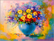 Premium poster Bouquet of summer flowers