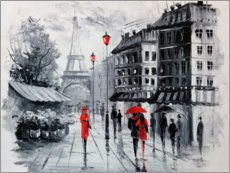 Acrylic print  The streets of Paris - Olha Darchuk