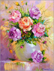 Wall sticker  Bouquet of delicate roses - Olha Darchuk