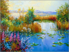 Canvas print  Flowers by the pond - Olha Darchuk
